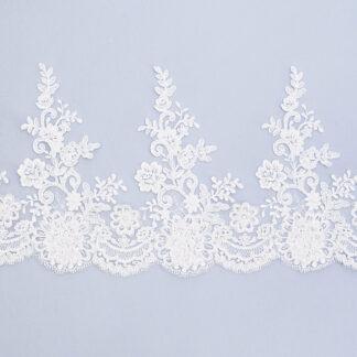 Embroidered lace trim C1667C4FG7UB-N44