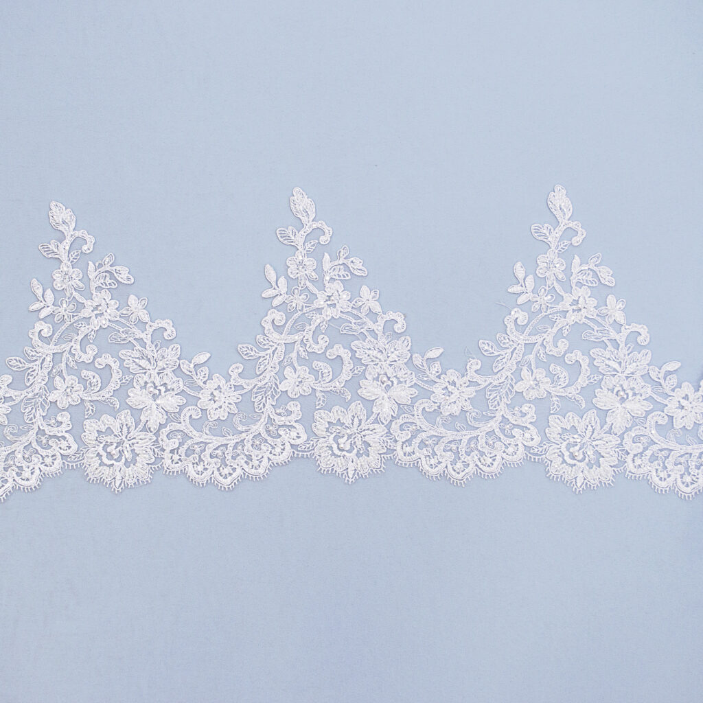 Embroidered lace trim C1670C4FB-2-N44