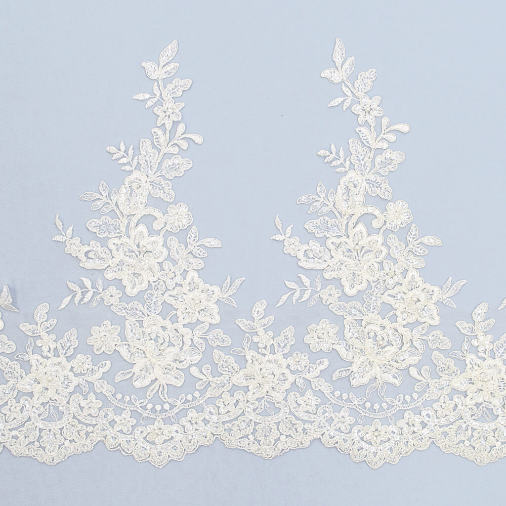 Embroidered lace trim C1675-1C4FB-1-N44