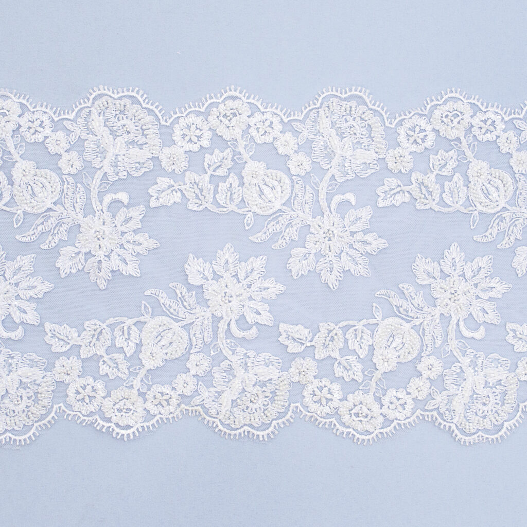 Embroidered lace trim M1778-3D3FEB-1-N44