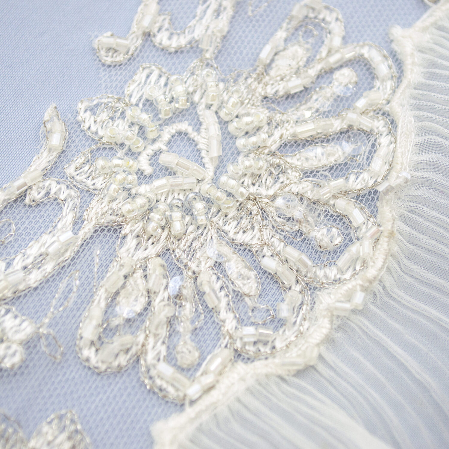 Embroidered lace trim M1898-1DEPB-N44
