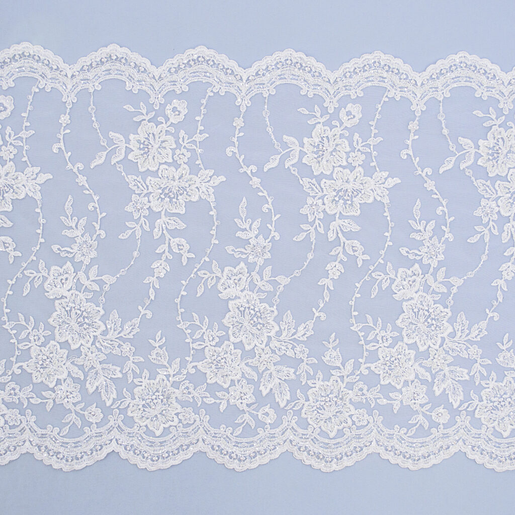 Embroidered lace trim M4506-3FB-1-N44