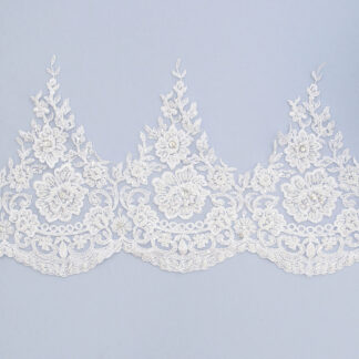 Embroidered lace trim M9694FB-3-N44