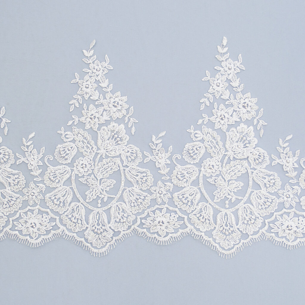 Embroidered lace trim M9705FB-N99