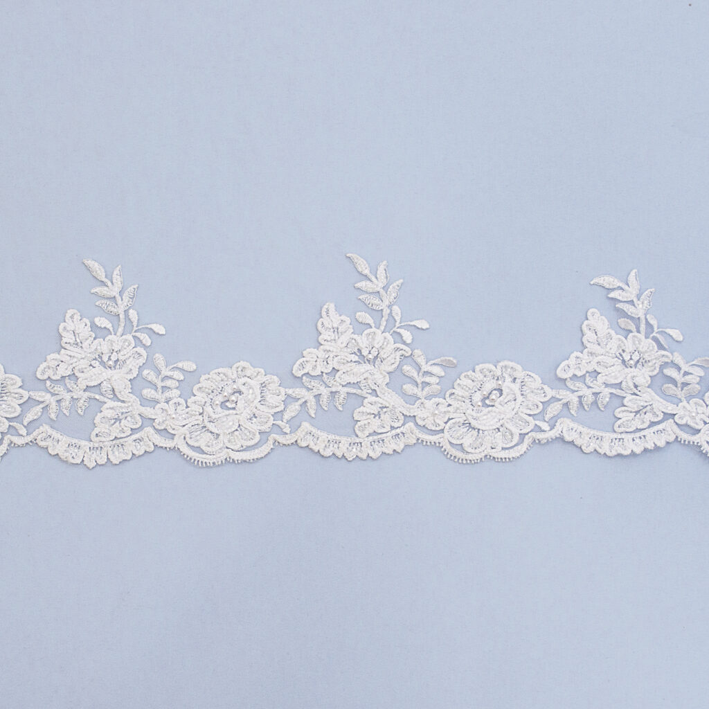 Embroidered lace trim T1132FW2UB-N99