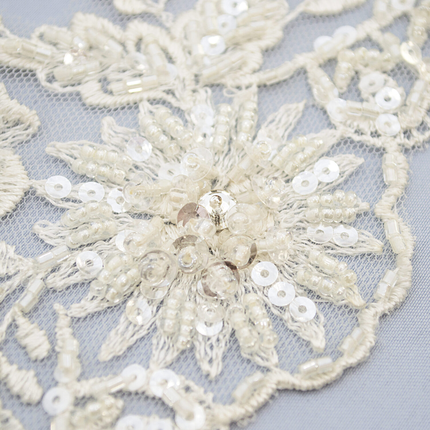 Embroidered lace trim T1442FB-N44