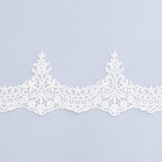 Embroidered lace trim T1605-2B-N44