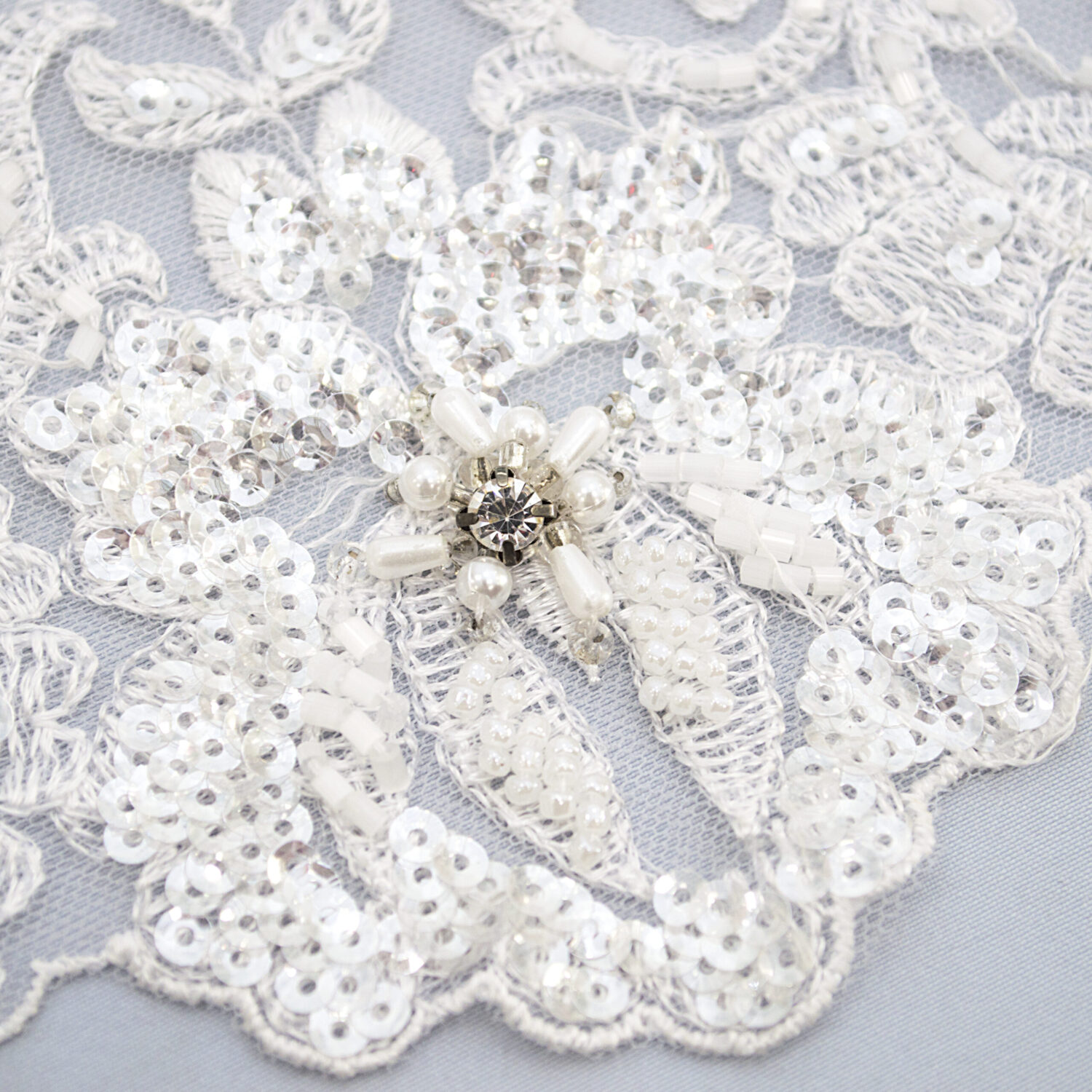 Embroidered lace trim TJ-5452B