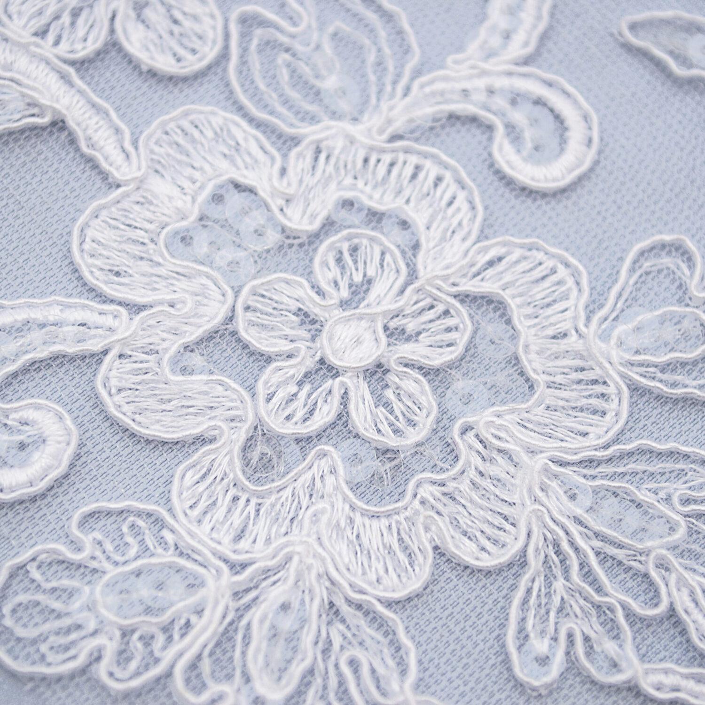 Sequined lace trim TJ-5803B2