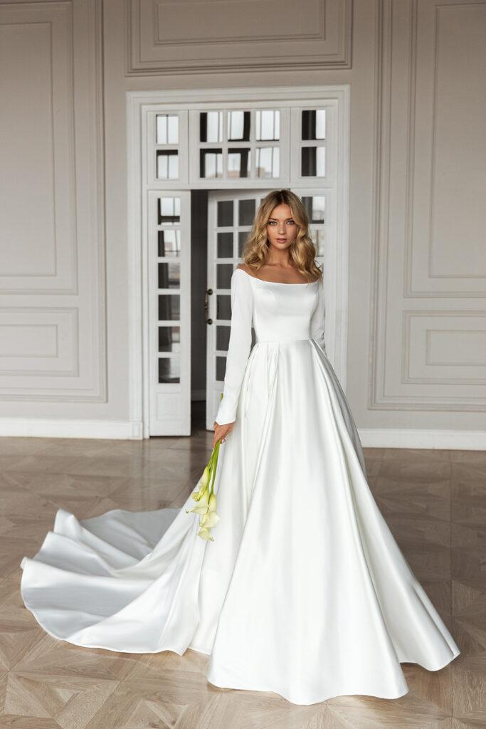 блестящие ткани на платье