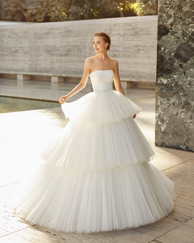 рюші на весільному платті
