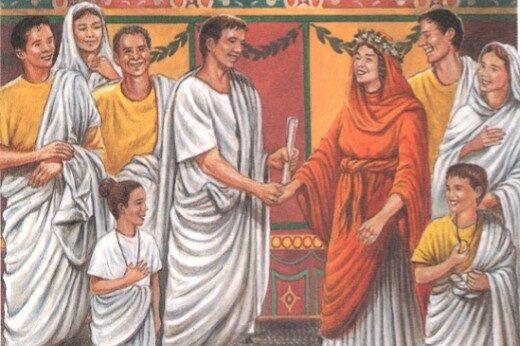 Свадебная фата в Древнем Риме