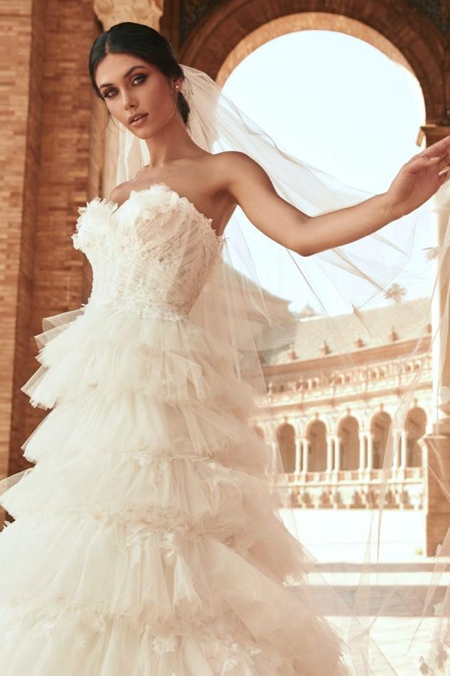 Фата невесты Фонтан
