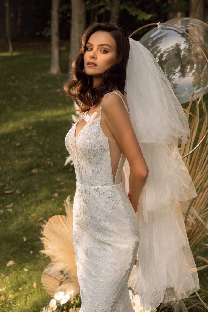 Свадебная фата фонтан