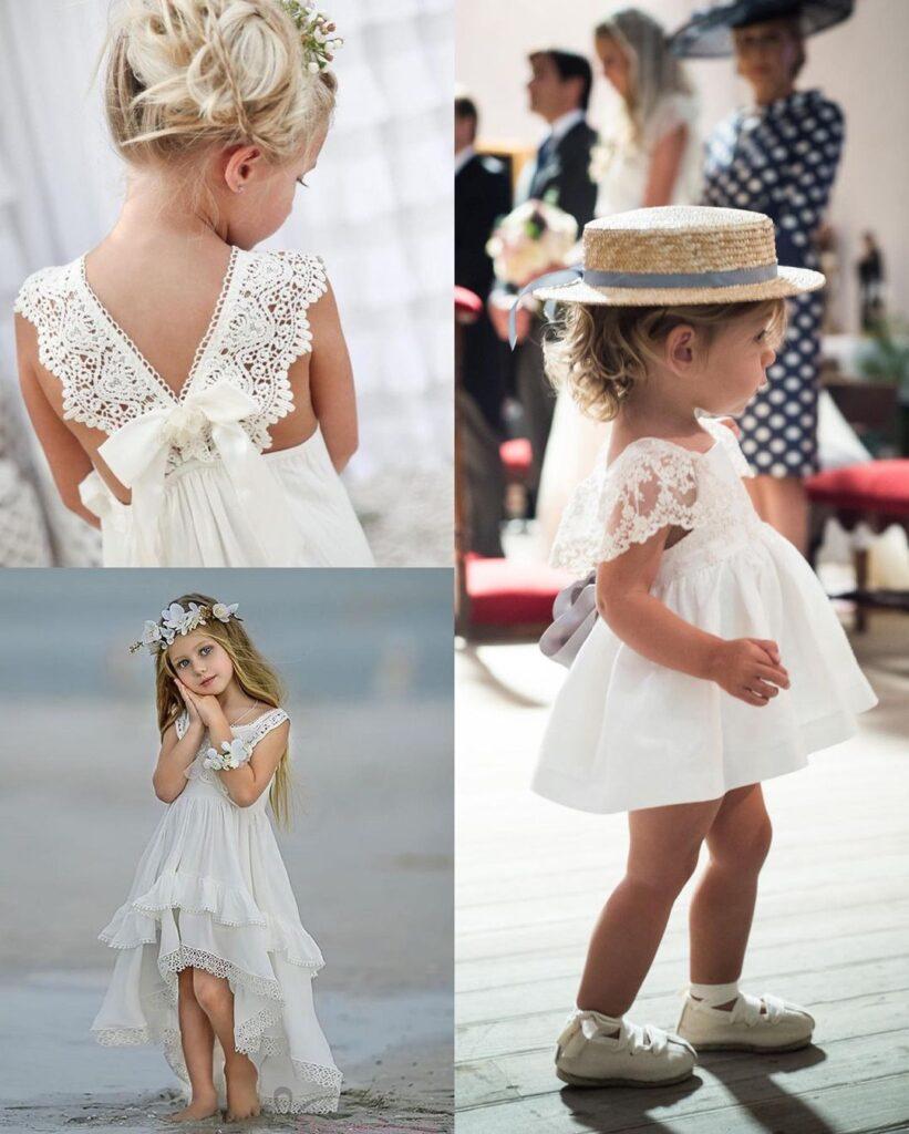 дитяча сукня з мереживом макраме