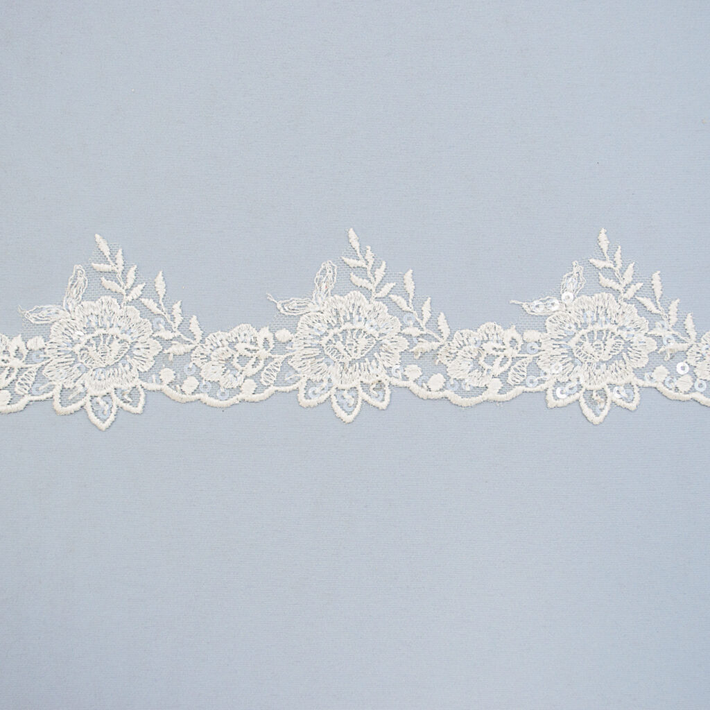 Sequined lace trim AB14084F-N44