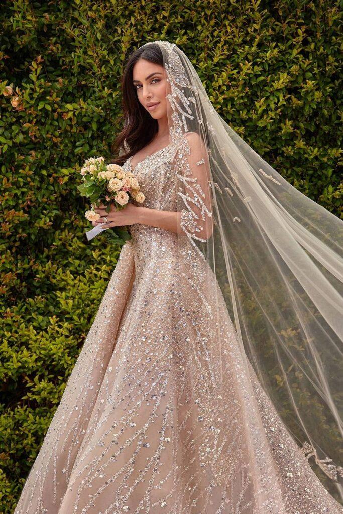 свадебное восточное платье