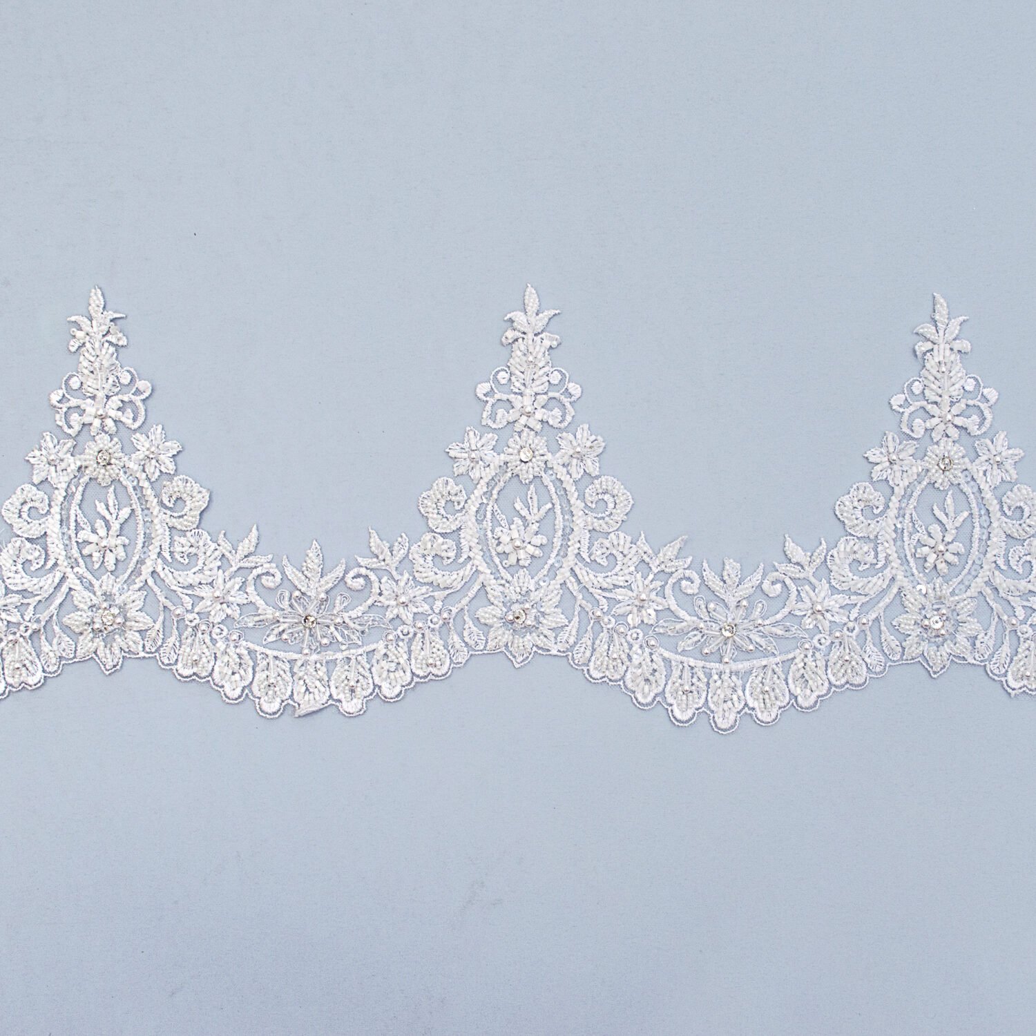 Embroidered lace trim AM13146F2B-1-N99