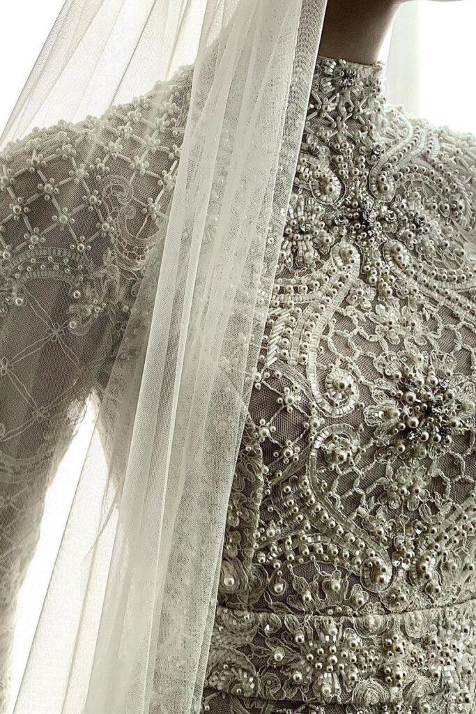 свадебное платье в восточном стиле Ersa Atelier