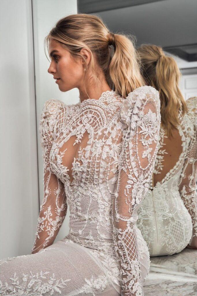 свадебное платье с арабскими мотивами Leah Da Glória