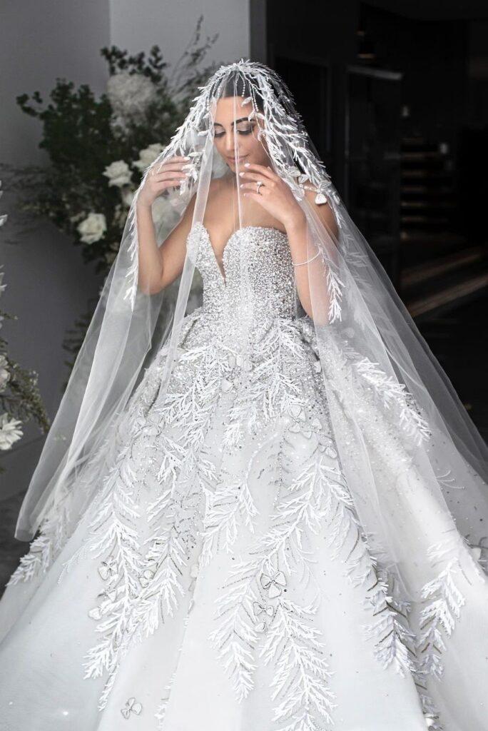 свадебное платье в восточном стиле от Steven Khalil