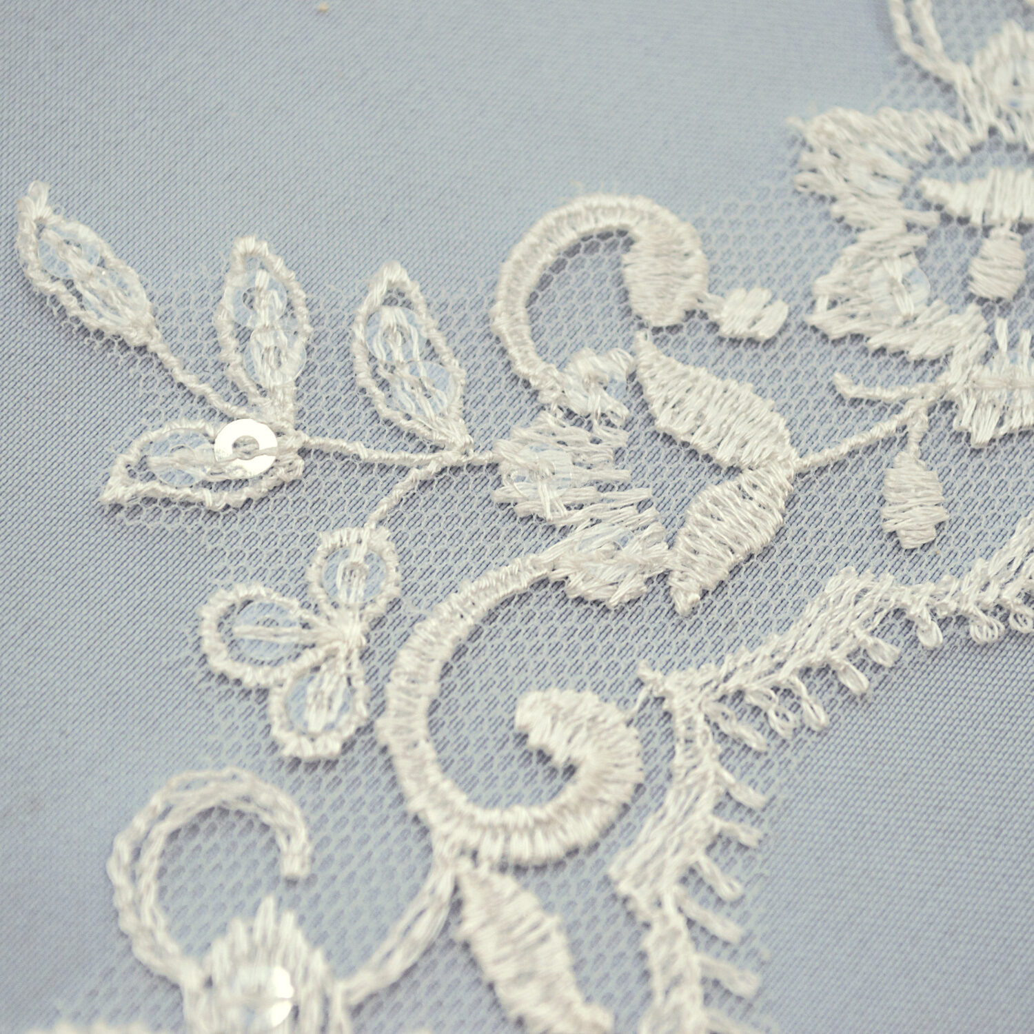 Sequined lace trim AB14151-1F-N44