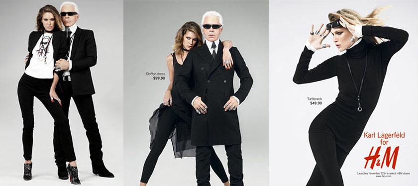 коллаборация брендов H&М и Карл Лагерфельд
