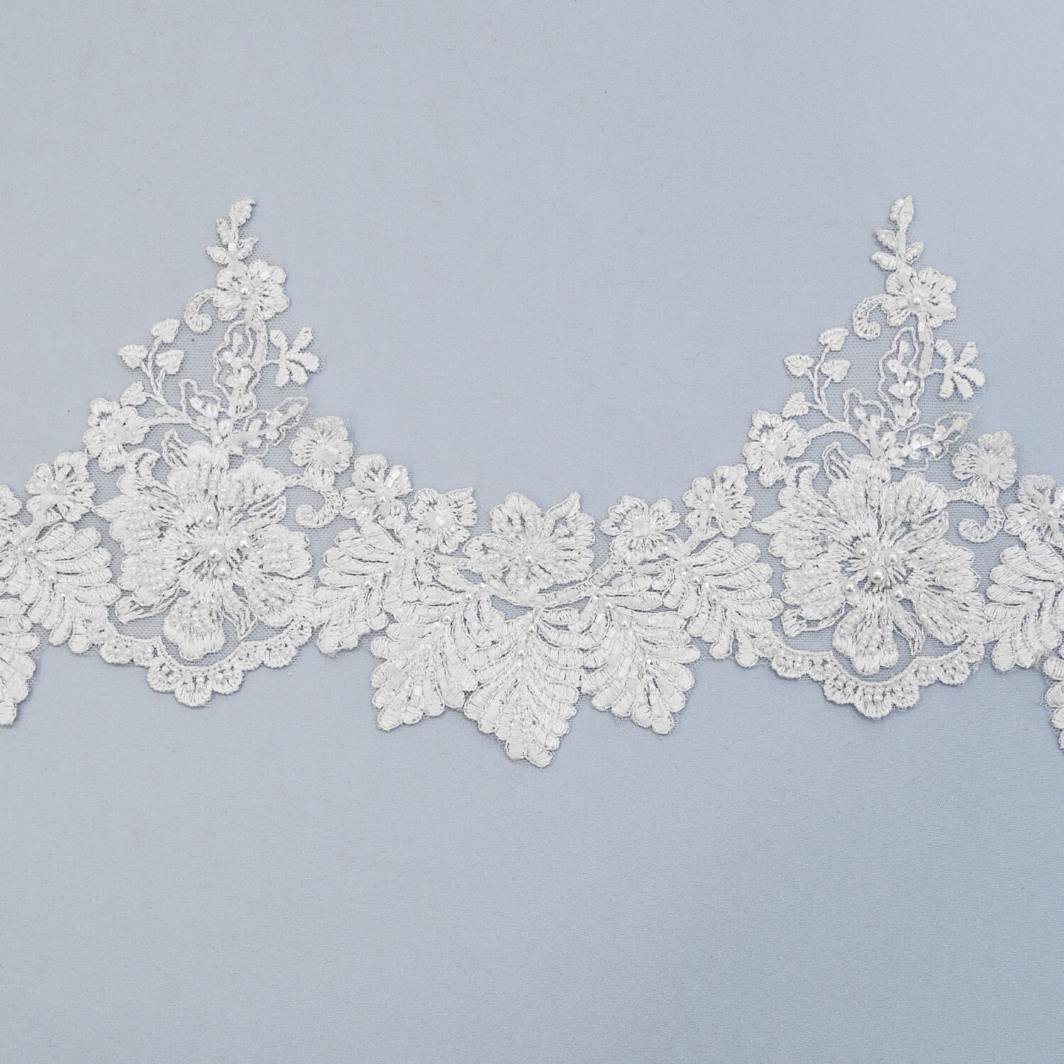 Embroidered lace trim M9746FB-N44