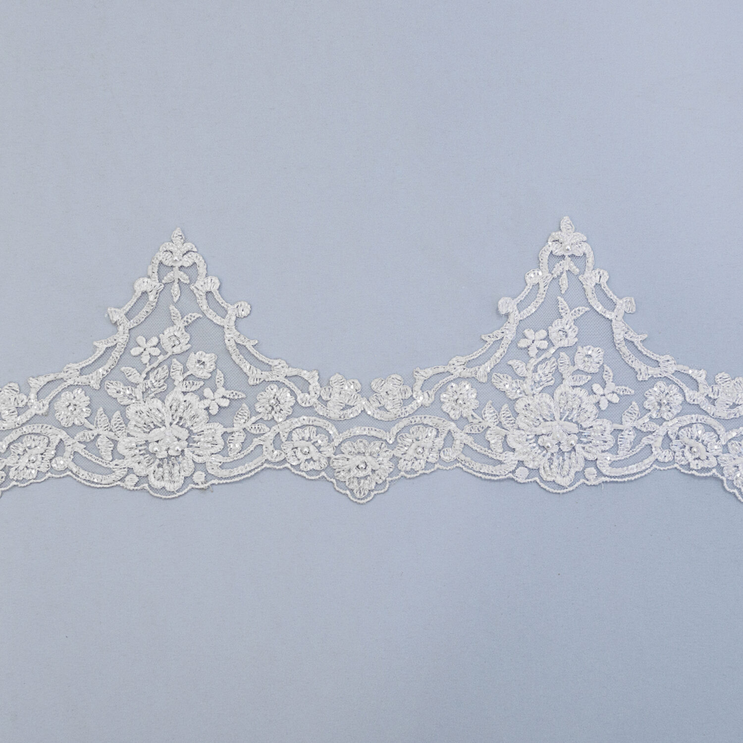 Embroidered lace trim M9775FB-1-N99