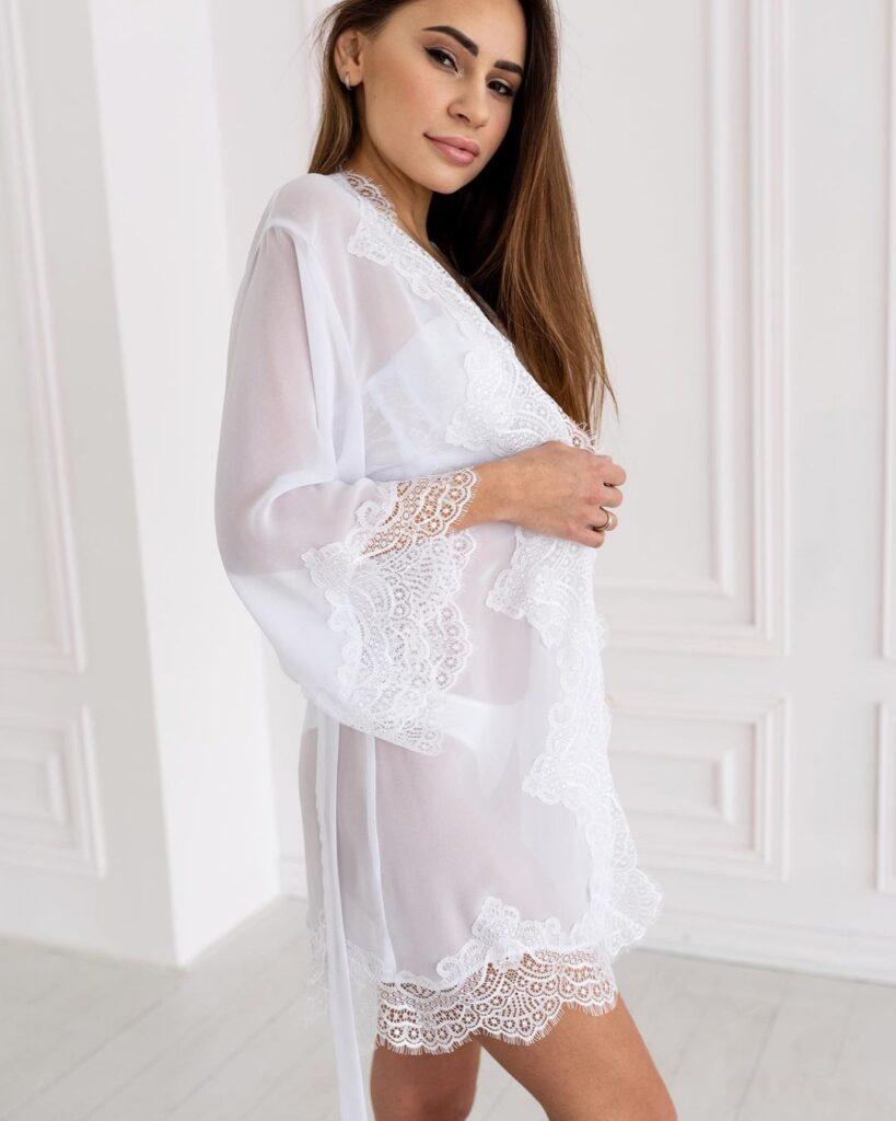 белый халат для невесты