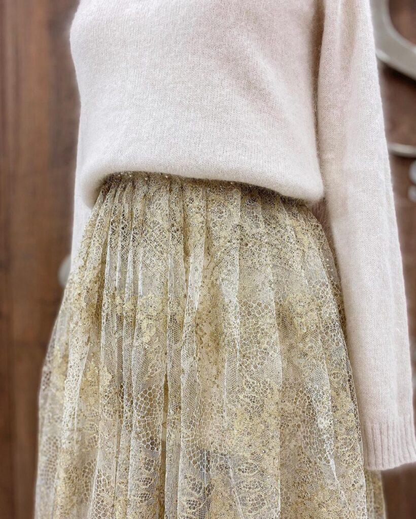 юбка из дорогой ткани